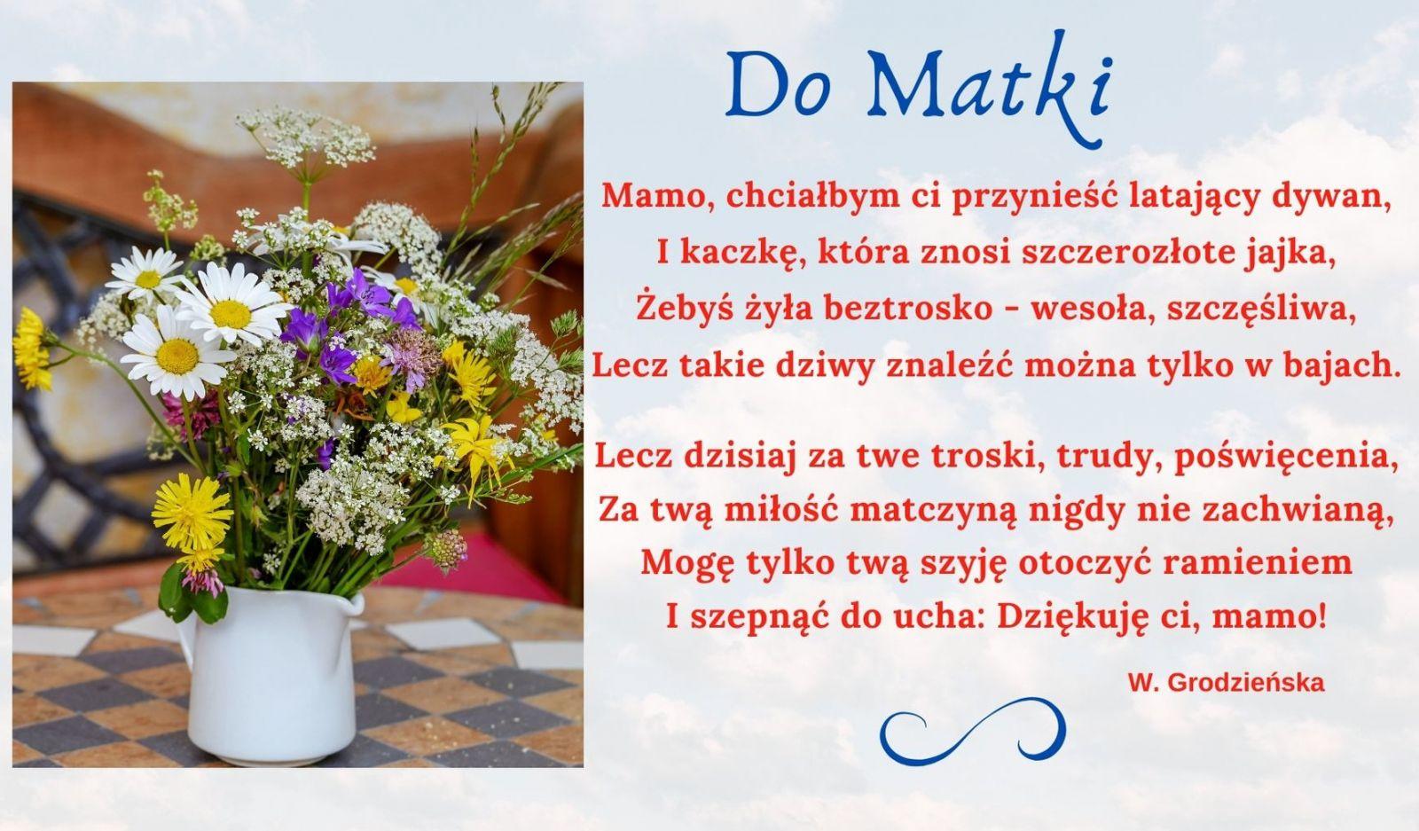 Zdjęcie plakatu z okazji Dnia Matki.