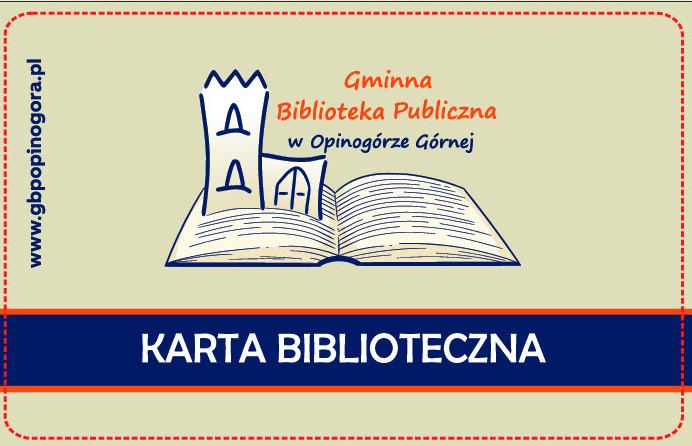 Zdjęcie karty elektronicznej dla czytelników GBP w Opinogórze Górnej